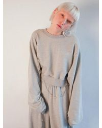 Fleamadonna - Cropped Jewelry Pointed Sweatshirt - Lyst