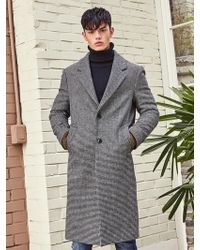 LIUNICK - Pied Check Wool Single Coat Black - Lyst