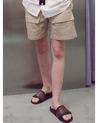 ANOUTFIT - [unisex] Cargo Banding Half Pants Beige - Lyst