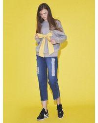 NUISSUE - High-waist Boyfriend Jeans Blue - Lyst