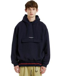 LIFUL MINIMAL GARMENTS - Side Pocket Hoodie Navy - Lyst