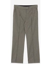 a.t.corner - Brown Poly Blend Check Pants Ampa7d129w2 - Lyst