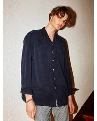 YAN13 - Pitch Special Shirt - Navy - Lyst
