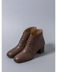 HEENN - Lace-up Ankle Boots In Brown - Lyst