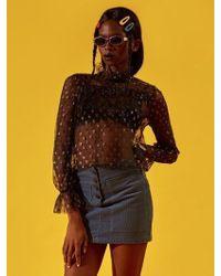 NANA CREW - Nana Star Blouse Black - Lyst