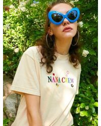 NANA CREW - Nana Rainbow T Shirt Light Beige - Lyst