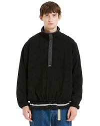 LIFUL MINIMAL GARMENTS - Fleece Pullover Black - Lyst