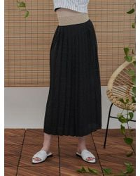 1159 STUDIOS - Mh6 Dot Pleats Skirt_bk - Lyst