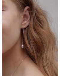 Matias - Crystal Ab Earrings - Silver - Lyst