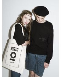 Ju'sto - Oneposter Ecobag Ivory - Lyst