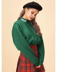 CANLEAP - [unisex] Turtle Neck Sweatshirt Green - Lyst