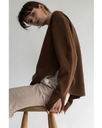 AEER - Logo Embroidery Wool Cashmere Pull Over - Lyst