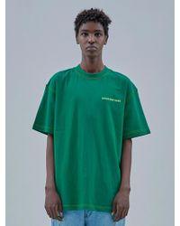 OWL91 - Stitch T-shirts_green - Lyst