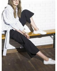 OUAHSOMMET - Wide Ankle Pants_bk - Lyst