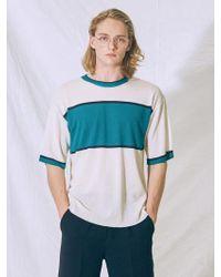 MIGNONNEUF - Block Knit T-shirt Ivory - Lyst