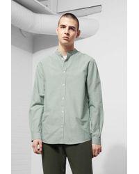 Weekday - Haring Collarless Shirt - Lyst
