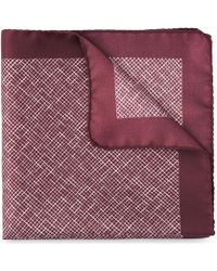 Whistles - Cross Hatch Silk Pocket Square - Lyst