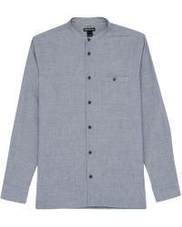 Whistles - Collarless Herringbone Shirt - Lyst