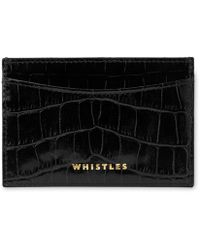 Whistles | Shiny Croc Cardholder | Lyst