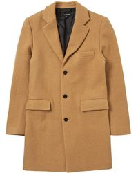 Whistles - Textured Wool Overcoat - Lyst