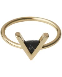 Whistles - Triangle Stone Ring - Lyst