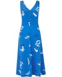 Whistles - Multi Strap Silk Willa Dress - Lyst