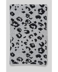 Whistles - Leopard Intarsia Knit Scarf - Lyst