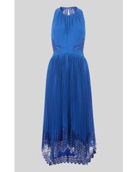 34bfd27705a47a Whistles Stripe Sabrina Dress in Blue - Save 11% - Lyst