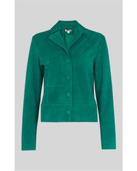 Whistles - Jaz Suede Patch Pocket Jacket - Lyst