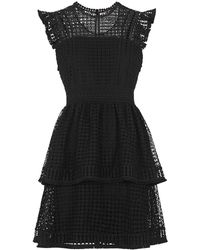 Whistles - Marlene Lace Panel Dress - Lyst