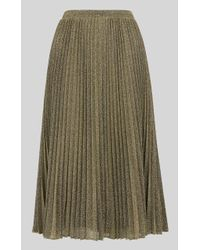Whistles - Sparkle Pleated Skirt - Lyst