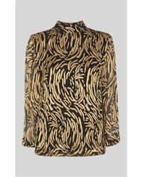 Whistles - Reed Devore Silk Mix Top - Lyst
