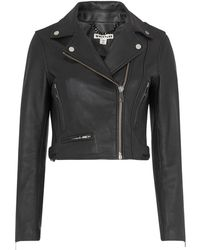 Whistles - Rose Crop Leather Jacket - Lyst