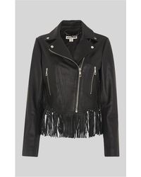 Whistles - Macrame Leather Jacket - Lyst