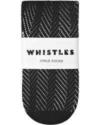 Whistles - Crochet Ankle Socks - Lyst