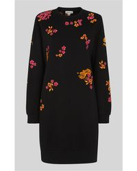 Whistles - Bloom Embroidered Sweat Dress - Lyst