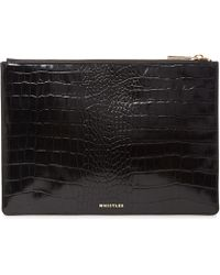 962df67d61 Lyst - Saint Laurent Belle Du Jour Large Shiny Clutch in Black