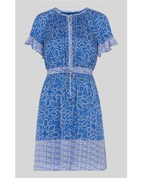 Whistles - Riya Print Drawstring Dress - Lyst