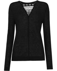 Whistles - Wool Mix Lace Vneck Insert Top - Lyst