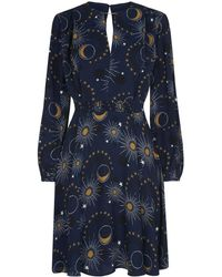 Whistles - Ebony Galaxy Flippy Dress - Lyst