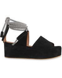Whistles - Molino Rope Suede Wedge Sandal - Lyst