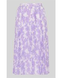 Whistles - Batik Lily Print Pleated Skirt - Lyst