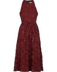 Whistles - Applique Textured Dress - Lyst
