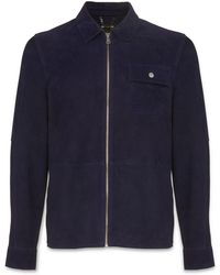 Whistles - Suede Zip-up Pocket Overshirt - Lyst