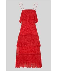 Whistles - Riya Print Tiered Dress - Lyst