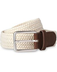 Whistles - Leather Trim Woven Belt - Lyst