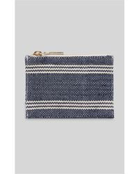 Whistles - Denim Stripe Coin Purse - Lyst