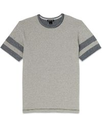 Whistles | Striped Sleeve T-shirt | Lyst