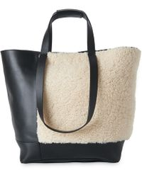 Whistles - Hampson Shearling Tote - Lyst