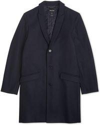 Whistles - Peaked Lapel Overcoat - Lyst